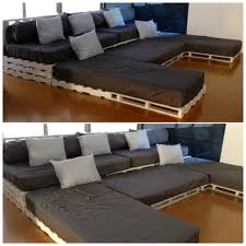 U Shaped Couch Living Room Furniture Os Pallets Fazem Sucesso Porque Ac Madeira Descartada E