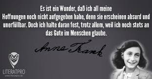 Es Ist Ein Wunder Anne Frank Literatpro