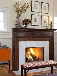 image of decorating fireplace mantel