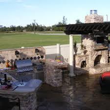 Custom Outdoor Kitchen And Fireplace   Backyard Oasis