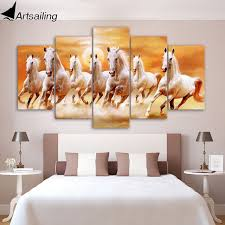 5 piece canvas art group white horses running posters and prints canvas painting wall pictures for on wall art pictures of horses with 5 piece canvas art group white horses running posters and prints