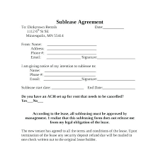 Apartment Sublease Template Need A Lease Agreement Form Kingest Co