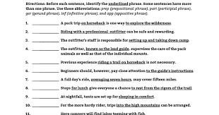Phrases Review Worksheet Packet - Google Docs