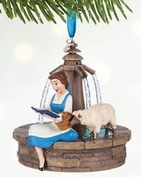 authentic disney belle sketchbook ornament bnwt beauty and the beast