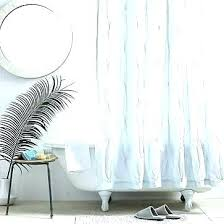 west elm erfly shower curtain navy stripe grey and white