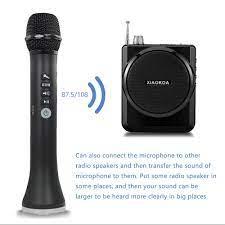 XIAOKOA L 698 profesyonel 15W taşınabilir USB kablosuz Bluetooth karaoke mikrofon  hoparlör ile dinamik mikrofon|