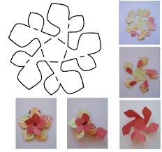 Flower Templates For Paper Flowers Paper Flower Templates Cyberuse
