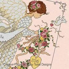 Angel Cross Stitch Patterns Simple Lesley Teare Designs Wedding Angel Cross Stitch Pattern