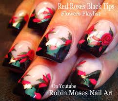 Red Roses Nail Art   DIY Rose Nails Design Tutorial - YouTube