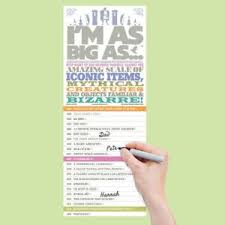 Details About Im As Big As Height Chart Fun Facts Children Measuring Kids Child