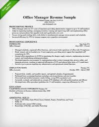 sample resume for office manager position office manager resume sample tips resume genius