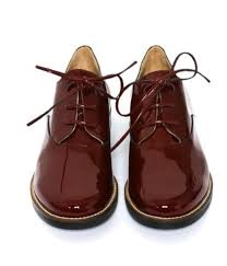 shoes shiny brown leather