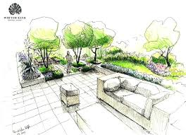 architecture sketch wallpaper. Wonderful Wallpaper Landscape Architecture Sketches Design  Designs Drawings Formal Gardens Modern Terraced Garden  To Architecture Sketch Wallpaper L