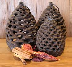Pine Cone Candles Pine Cone Lantern Small Candles And Tealights Home Accessories