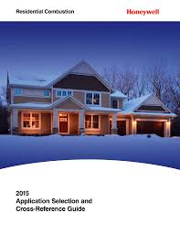 Honeywell Thermostat Cross Reference Chart 2015 Application Selection And Cross Reference Guide