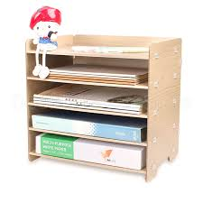 Us 46 55 5 Off Wooden A4 Document File Management Storage Box Desktop Office Finishing Grid Multi Cell Rack 5 Layers In Storage Boxes Bins From