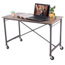 modern wood office furniture. Giantex Computer Desk Laptop Writing Table Wheels Rolling Portable Wood Modern Home Office Furniture HW51983 E