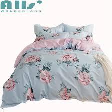 3 blue flowers duvet cover set queen twin size bedding sets for s pink fl bed sheets pillow case soft bed linens cotton duvet cover sets bedroom