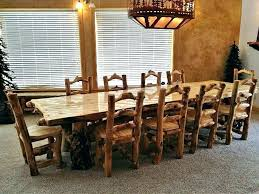 rustic wood round dining table room sets shabby white solid chair reclaimed brown unique chairs six