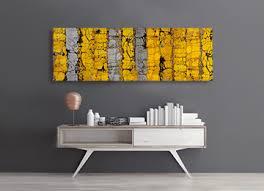 yellow grey abstract panoramic wall art canvas print contemporary  on yellow and grey wall art canvas with a large yellow and grey panoramic abstract canvas wall art entitled
