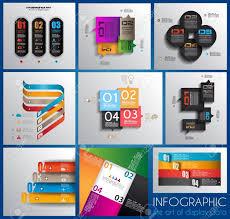 インフォ グラフィック紙タグ付きデザイン テンプレートのコレクション