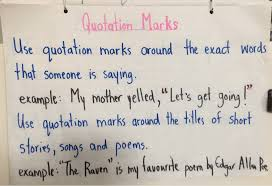 Quotation Marks Anchor Chart Anchor Charts Cessfords Chalkboard