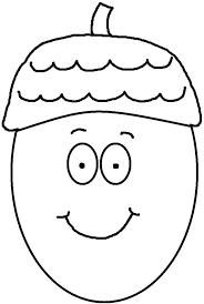 Acorn Coloring Pages With Eyes And Mouth Get Coloring Page