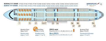 Seating Plan Aeroflot Boeing 777 Boeing 777 300