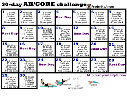 30 Ab And Core Workout Challenge Train Your Temple