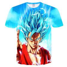 Dragon Ball Z T shirts Mens Summer Fashion 3D <b>Printing Super</b> ...
