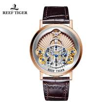 <b>Reef Tiger</b>/<b>RT</b> 2019 Fashion <b>Design</b> Watch Men Luxury Rose Gold ...