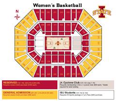 Iowa State Basketball Arena Seating Chart Facility Seating Charts Iowa State University Athletics