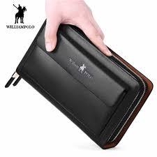 <b>Williampolo</b> men's wallet Fashion New Arrival <b>100</b>% <b>Cow Leather</b> ...