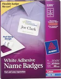 Avery White Adhesive Name Badge Labels 5395