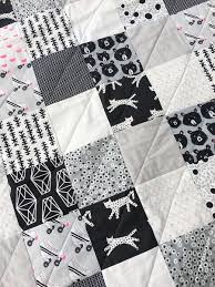 Black And White Quilt Patterns Custom New Free Pattern Super Easy Black White Quilt Brooklyn Craft
