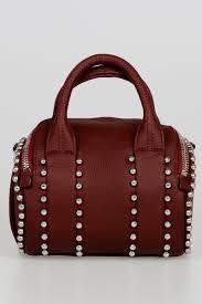 studded leather bowler bag
