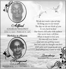 Alfred Maloney Memoriam - Hamilton, Bermuda | The Royal Gazette