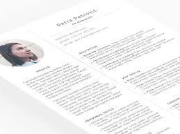 Download Minimal Resume Template Psd Ui Myjob News