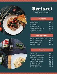 Resturant Menu Template Customize 156 Italian Menu Templates Online Canva
