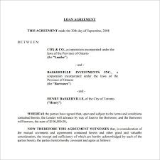 Free Loan Agreement Loan Contract Template 100 Examples in Word PDF Free Premium 7