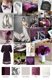 Eggplant Gray Silver Inspiration Board | My Wedding Inspiration Boards