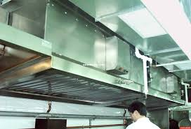 Hood Grease Filter The Exhaust Fan Stove Hood Kitchen Cabinets And The Stove Top Can