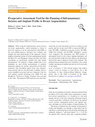 Pdf Preoperative Assessment Tool For The Planning Of