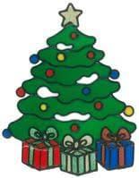 Magicgel Fensterbilder Weihnachten Nikolaus Mit Baum 20 X 27 Cm Fensterdeko Für Das Basteln Mit Kindern