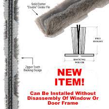commercial door weather stripping. pile weather stripping - new zipper type instalation commercial door l