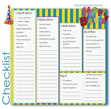 house party planning checklist fresh birthday party planner idealstalist of house party planning checklist fresh birthday
