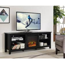 walker edison furniture. Walker Edison Furniture Company Essentials Espresso Fire Place Entertainment The Home Depot And