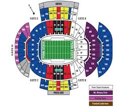 58 Unmistakable Psu Football Stadium Seating Chart