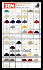 Sem Marine Vinyl Coat Color Chart 79 Qualified Sem Classic Coat Color Chart