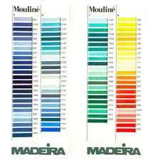 Madeira Embroidery Thread Colour Chart